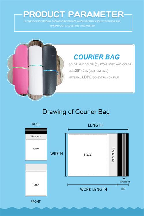 durable plastic courier bag