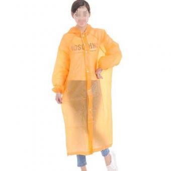 disposable adult yellow raincoat