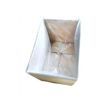 plastic transparent square bottom bags