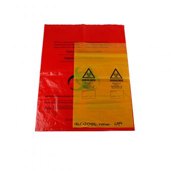 plastic red medical autoclave bags