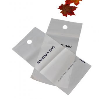 Plastic disposable sanitary bag