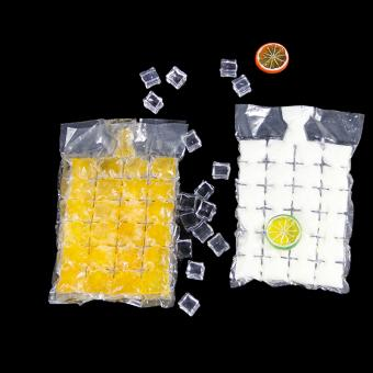Disposable plastic ice cube bag