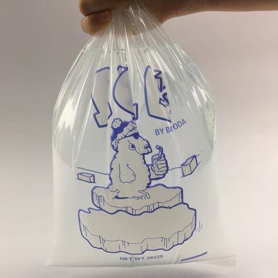 disposable flat top ice bag