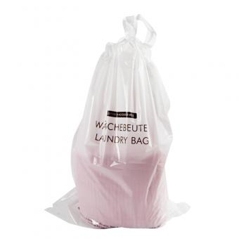 plastic laundry bag with drawstring