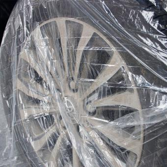 disposable pe car tyre cover