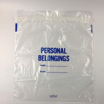 patient belonging bag with drawstring