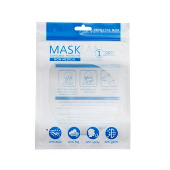 Plastic face mask packaging bag