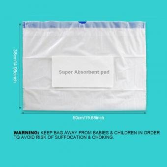 Plastic commode liners with absorbent pad