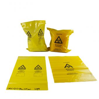 stick-on biohazard waste bag