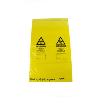 medical waste bag with adhesive tape