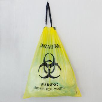 biohazard drawstring garbage bag