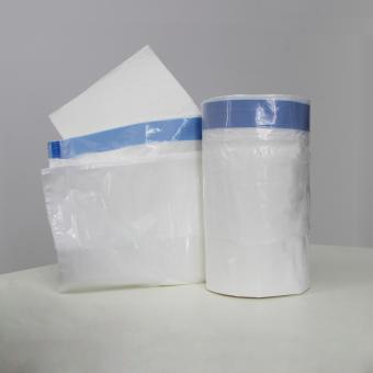 Disposable commode liners with absorbent pads