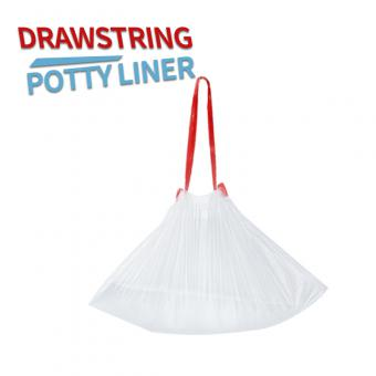 Disposable drawstring liners potty liner
